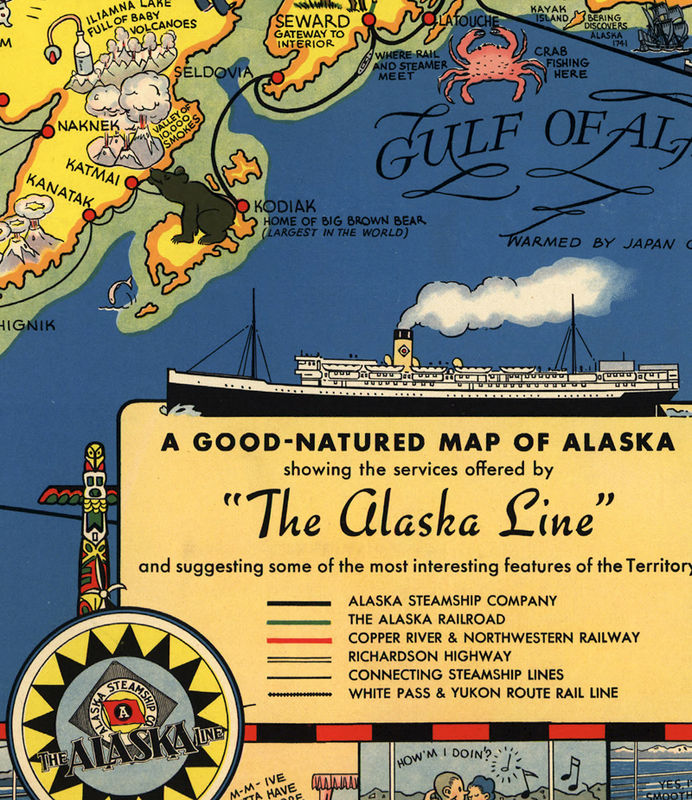 Old Map of Alaska Territory  1934 - product image