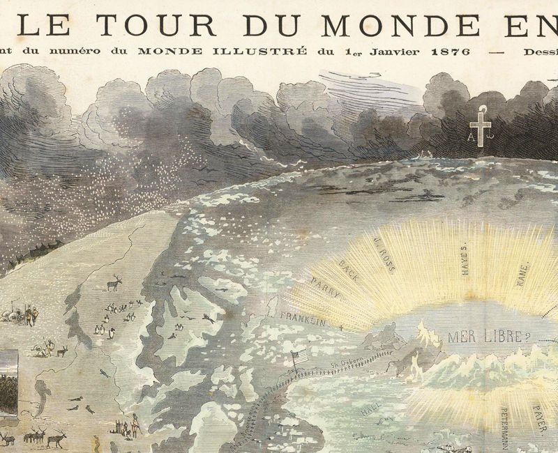 Old World Map 1876 Le Tour du Monde - product images  of