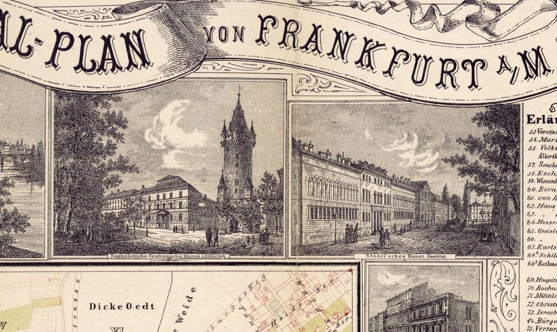 Old Map of Frankfurt  Germany 1860 - product image