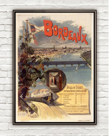 Vintage,Poster,Bordeaux,Bordeus,France,,,1897,bordeaux, bordeaux poster,bordeus, bordeaux france, france, tourisme poster,  advertise poster, ,Art,Reproduction,Open_Edition,vintage_poster,retro_poster,travel_poster,touristic_poster