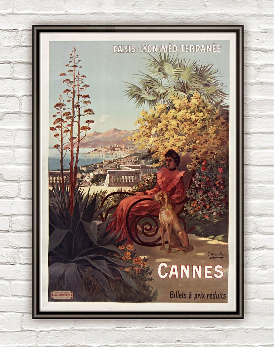 Vintage Poster of Cannes 1904 Tourism poster travel - product image