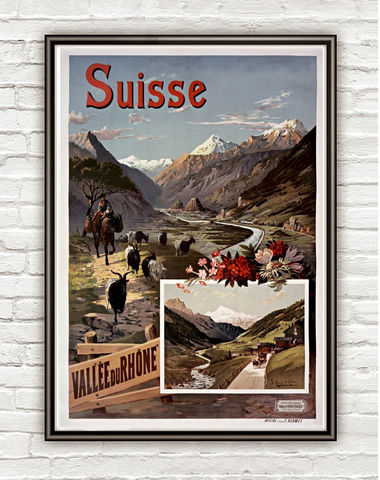 Vintage,Poster,of,Switzerland,Rhone,Suisse,,1897,suisse poster, switzerland, tourisme poster,  advertise poster,Art,Reproduction,Open_Edition,vintage_poster,retro_poster,travel_poster,touristic_poster