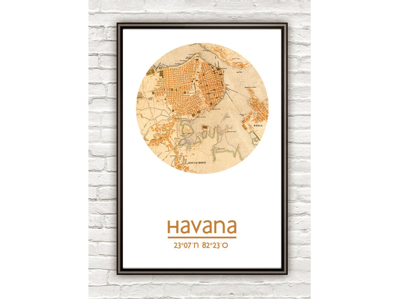 HAVANA - city poster - city map poster print - product image