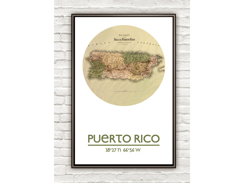 PUERTO RICO - city poster - city map poster print - product image