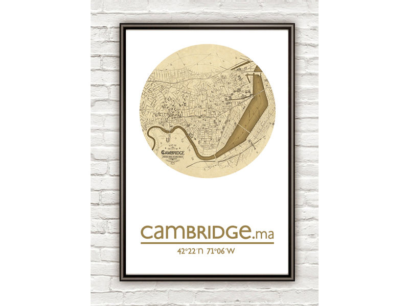 CAMBRIDGE MA - city poster - city map poster print - product image