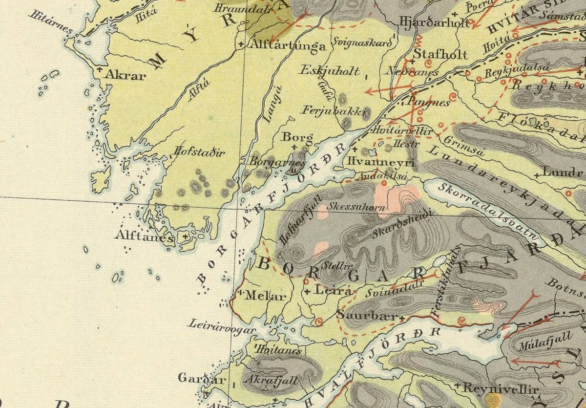Old Map of Iceland islandia 1898 Geological map - product images  of