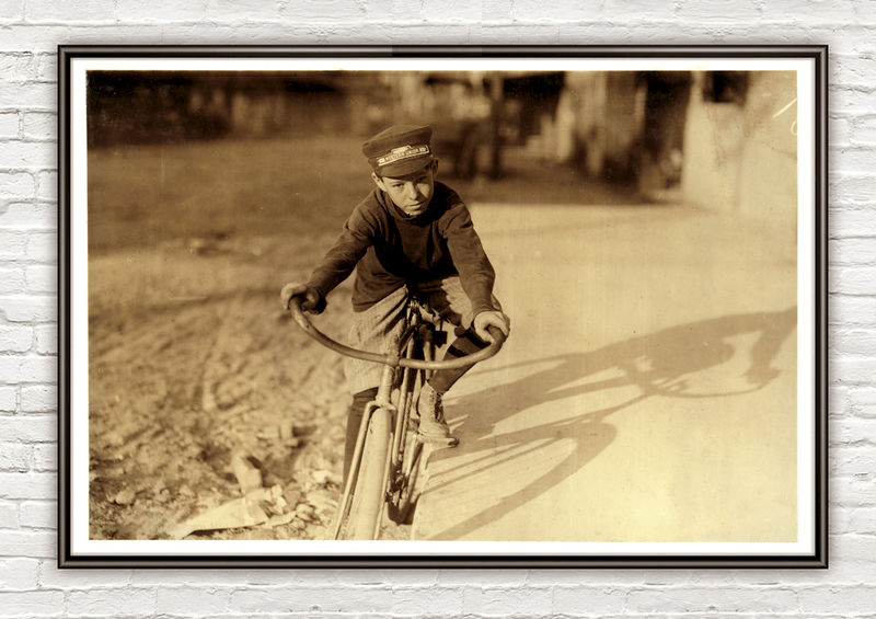 Lewis Hine, 14 years old, Western Union messenger, Houston, Texas - product images