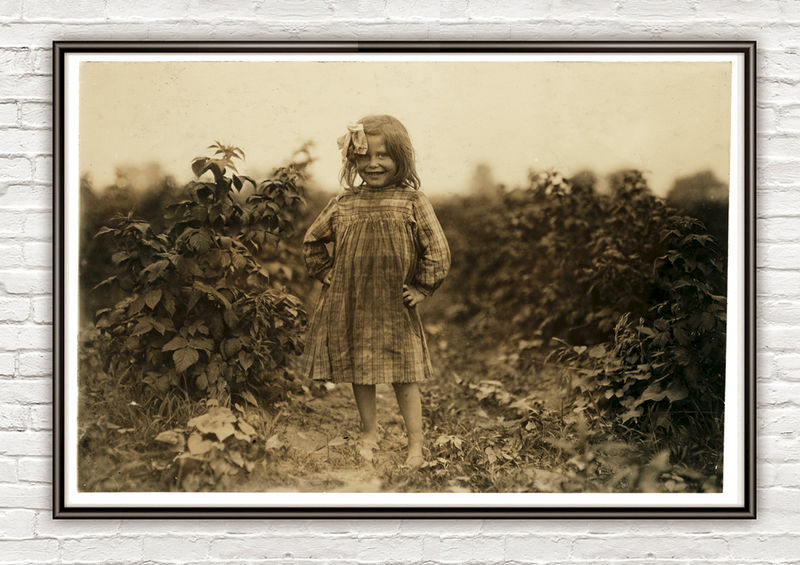 Lewis Hine, 6 year old berry picker, Rock Creek, Maryland, 1909  - product images