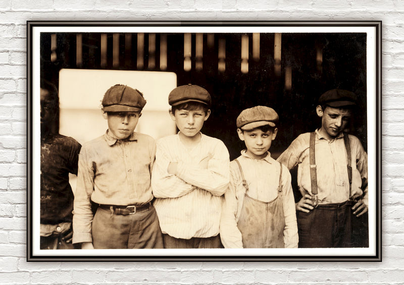 Lewis Hine Youngsters on day shift, Alexandria, Virginia, 1911  - product images