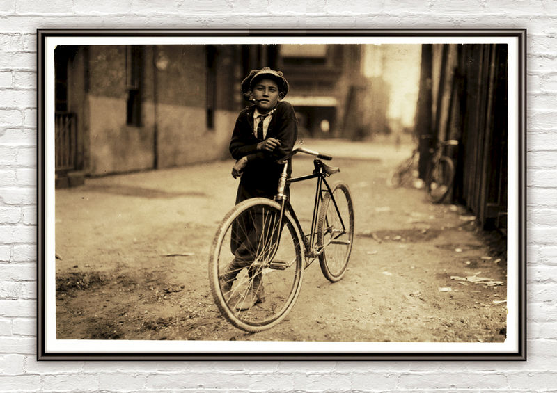 Lewis Hine Messenger boy  Texas, 1913 - product images