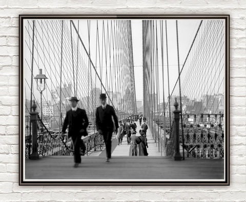 Old,photo,Brooklyn,Bridge,,New,York,City,,1910,Old photo, Brooklyn Bridge, New York City,, photographer, boy,  antique photo