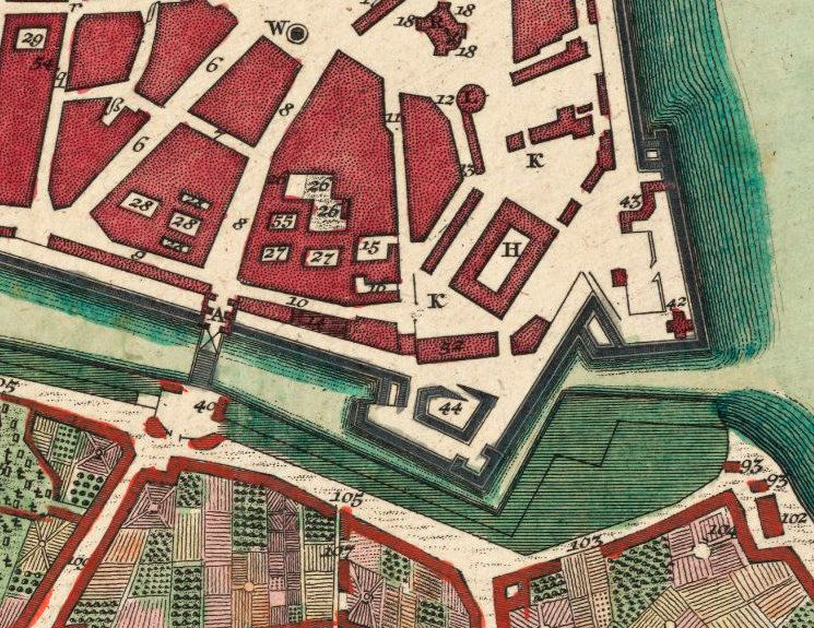 Old Map of Dresden 1740 with gravures, Germany - product image