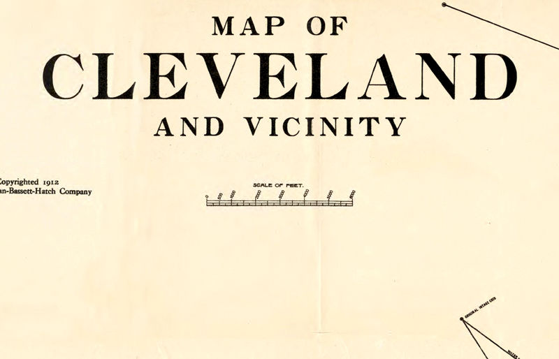 Old Map of Cleveland and suburbs 1912 - product images  of