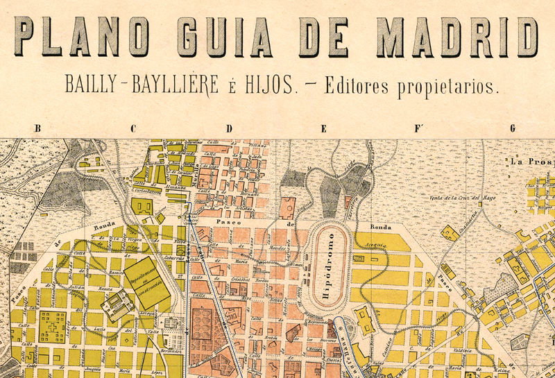 Old Map of Madrid 1905, Spain Espana - product image