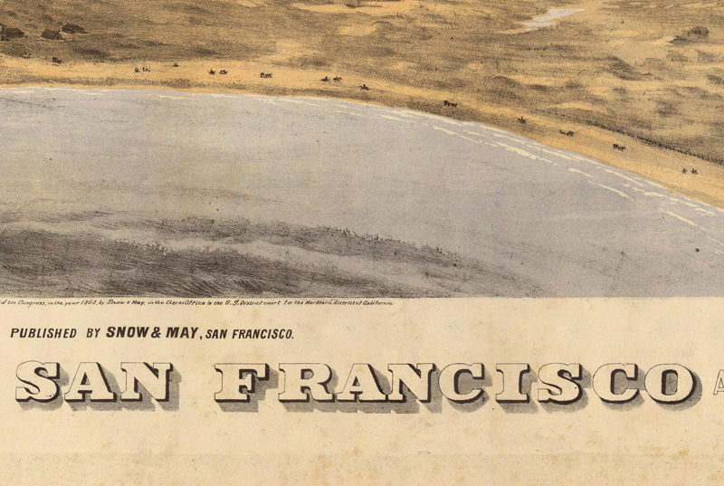 San Francisco Panoramic View 1868 - product image