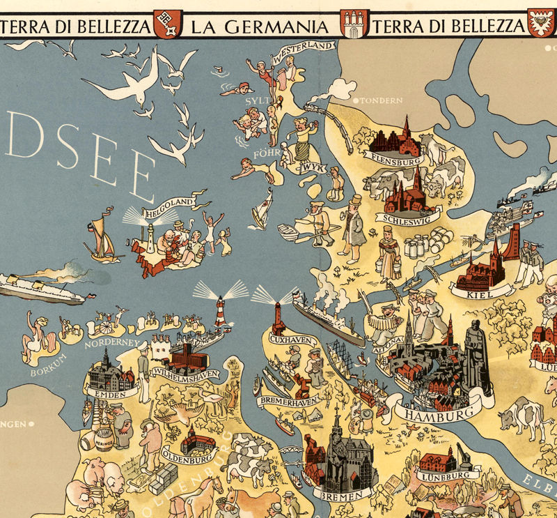 Vintage Map of Germany Tourism Map 1941 - product image