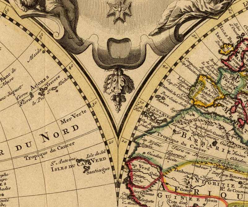 Old World Map antique 1742 - product image