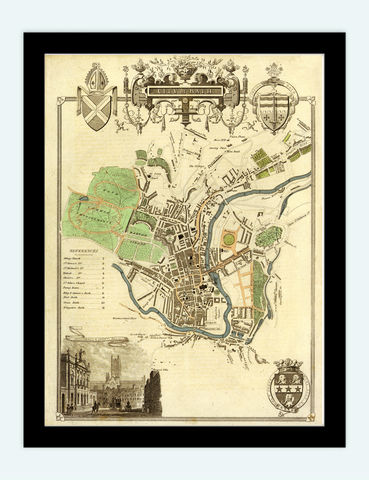 Old,Map,of,Bath,1837,United,Kingdom,Art,Reproduction,Open_Edition, Bath uk, Bath map, map of bath, bath poster, map, old map, maps and prints, map reproductions, maps for sale