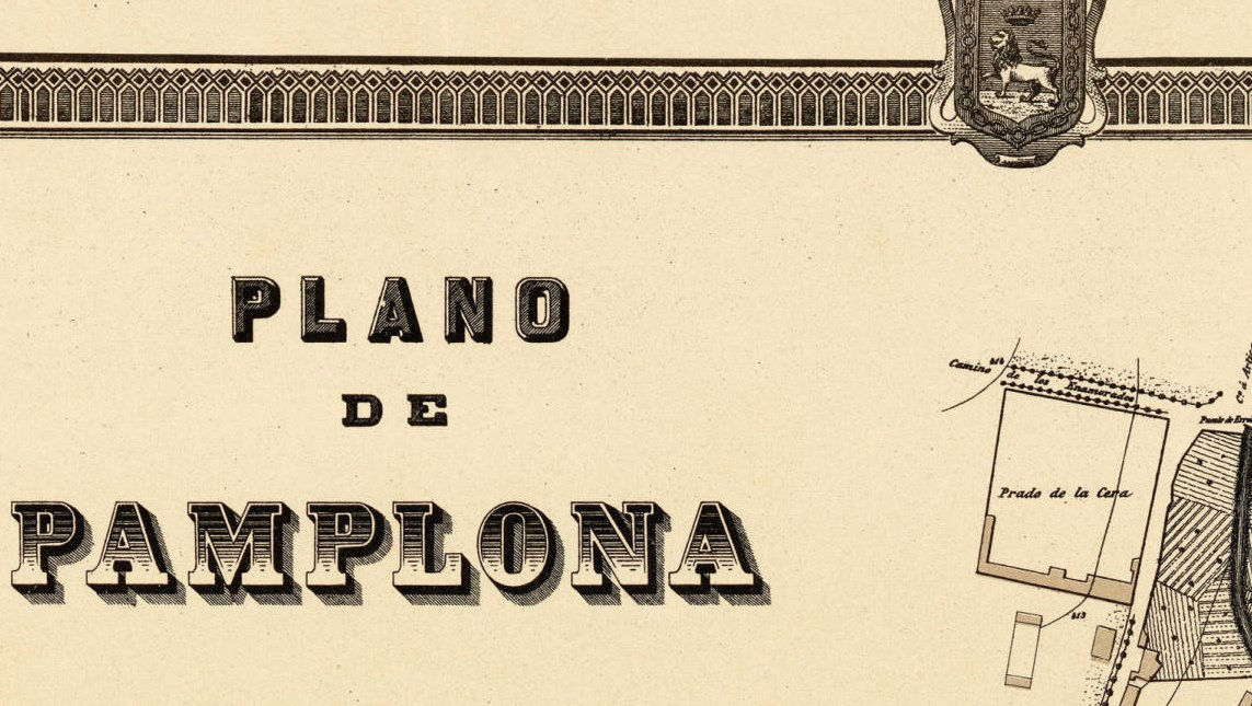 Vintage Map of Pamplona, Spain 1882 - product images  of