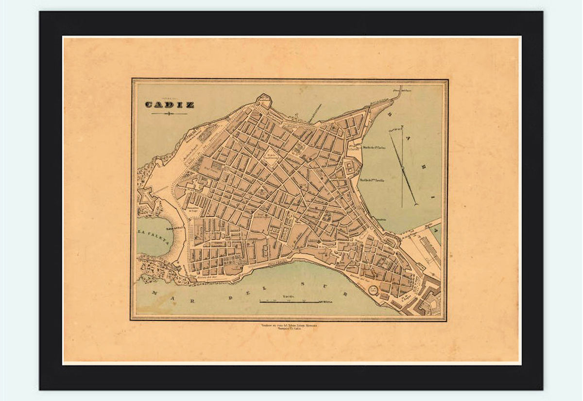 Old Map of Cadiz, Spain 1800 - product images  of
