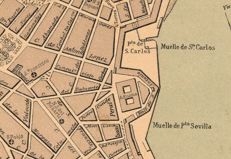 Old Map of Cadiz, Spain 1800 - product image