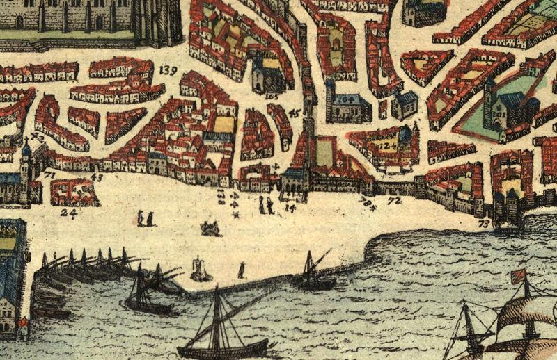 mapa antigo de lisboa Old Map of Lisbon 1598 Lisboa Portugal mapa antigo   OLD MAPS AND  mapa antigo de lisboa