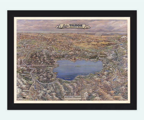 Vintage,Map,of,Lake,Tahoe,California,and,Nevada,lake tahoe, lake tahoe poster, lake tahoe map, Art,Reproduction,Open_Edition,vintage,United_States,antique,vintage_california,old_california_map,map_of_california,retro_california,california_poster,america,nevada,nevada_map,lake tahoe_map,old_map, histori