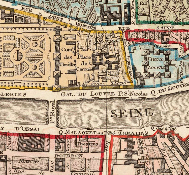 Old Map of Paris, France 1790 - product image