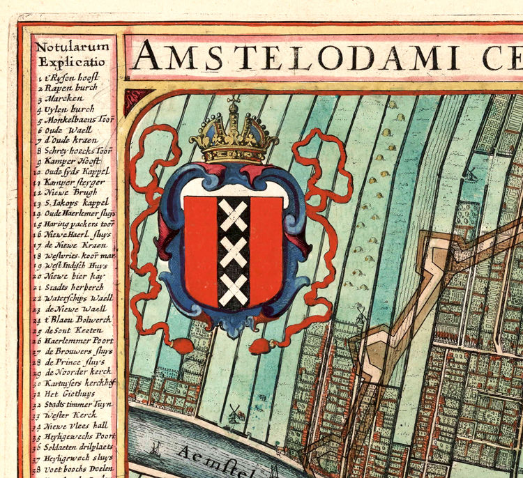Old Map of Amsterdam Netherlands 1649 Vintage Map - product images  of