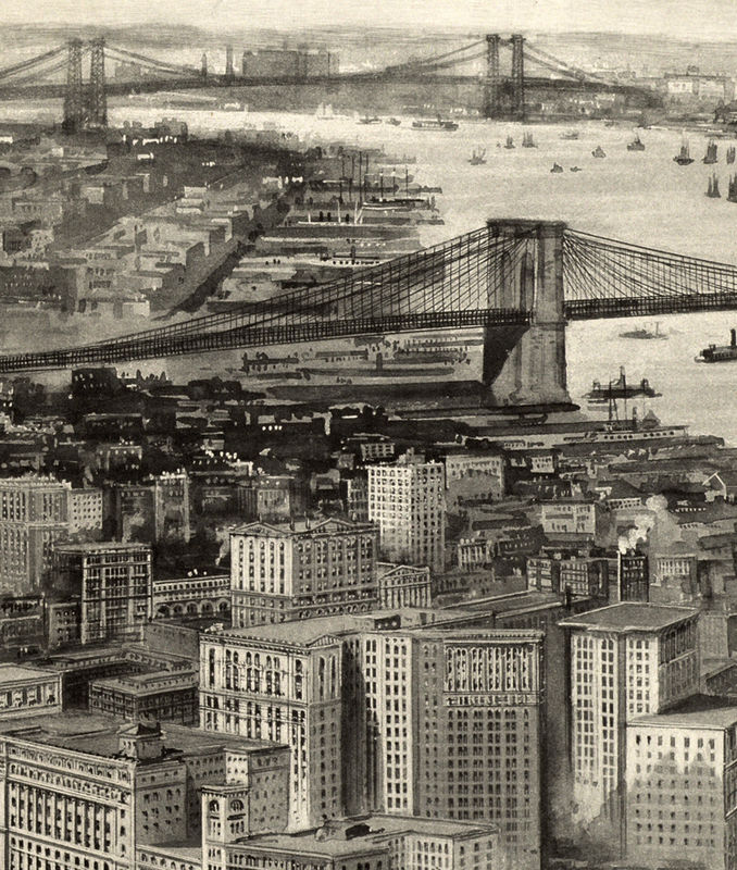 Old Panoramic New York 1905 BirdsEye View - product image