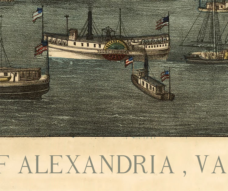 Old Map of Alexandria Virginia Columbia 1863 - product images  of