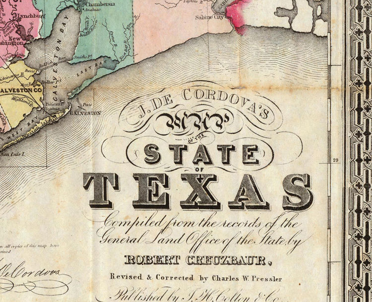 Old Map Texas 1856 Vintage Map - product images  of