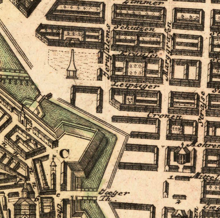 Old Map of Berlin, Germany 1739 Antique Vintage - product image