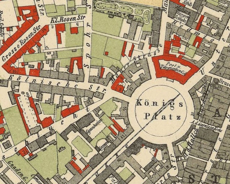 Old Map of Kassel Cassel Germany Deutshland 1878  - product image