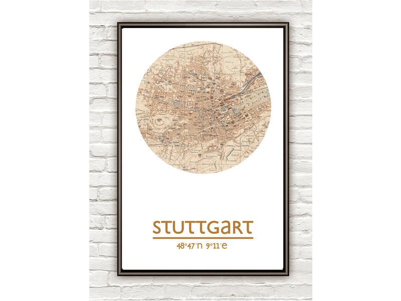 STUTTGART - city poster  - city map poster print - product image
