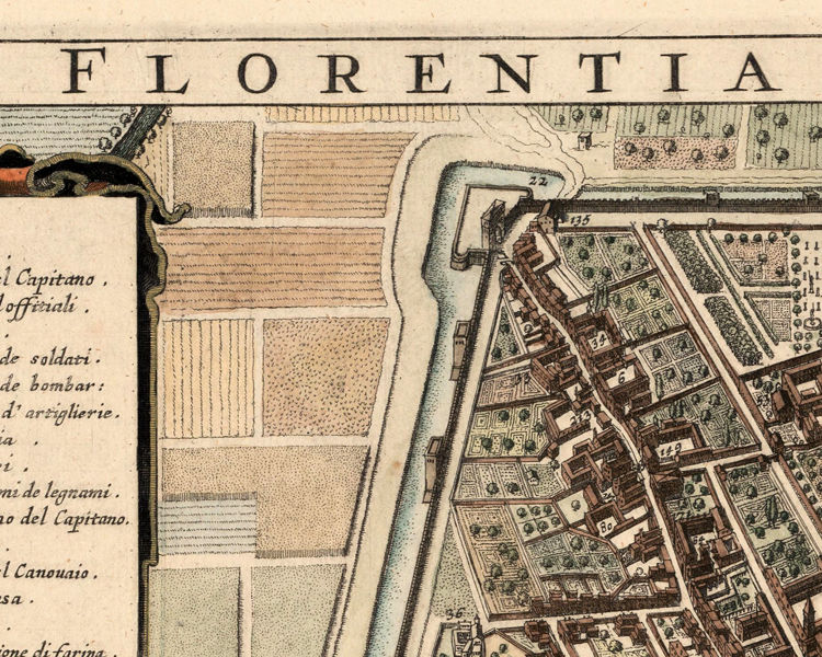 Old Map of Florence Firenze 1685 Vintage Map - product images  of