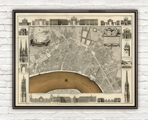 Old,Map,of,Bordeaux,with,gravures,1755,City,Plan,France,Vintage,Art,Reproduction,Open_Edition,vintage,gravure,vintage_map,city_plan,panoramic_view,old_map,vintage_poster,bordeus,bordeaux_map,map_of_bordeaux,antique_map