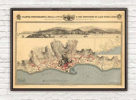 Old,Map,of,San,Remo,1882,SanRemo,Italy,Vintage,san remo map, mapa di san remo, sanremo italy, Art,Reproduction,Open_Edition,vintage_poster,Italia_tourism,italy,italy_vintage,travel_poster,Riviera_italy,italy_travel,italien_decor,San_Remo,San_Remo_Poster,Sanremo_poster,travel_poster_italy