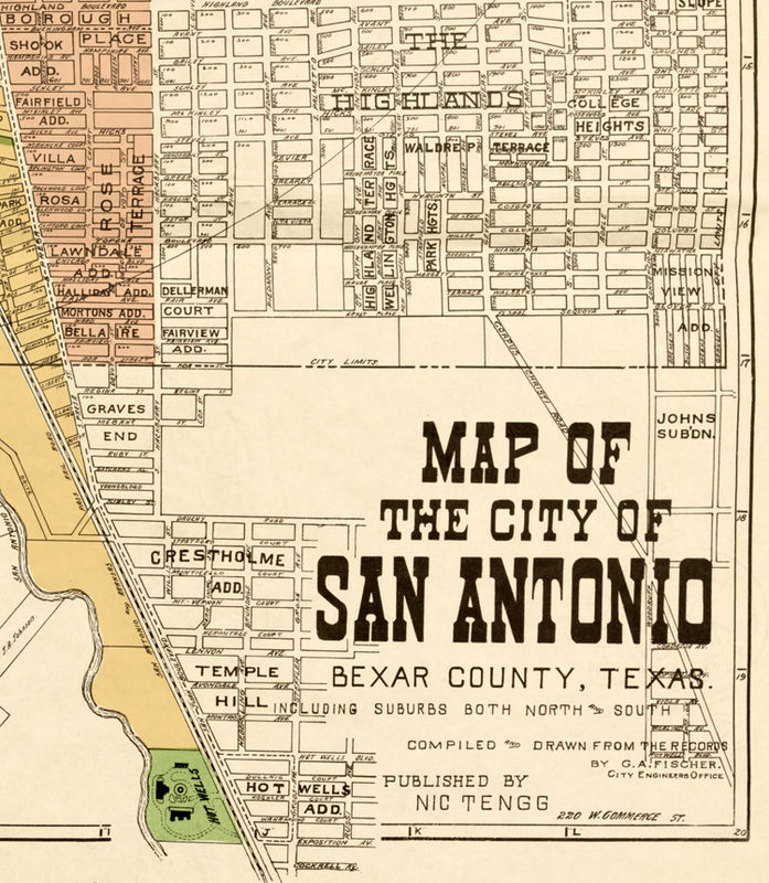 Old Map Of San Antonio Texas 1924 Old Maps And Vintage