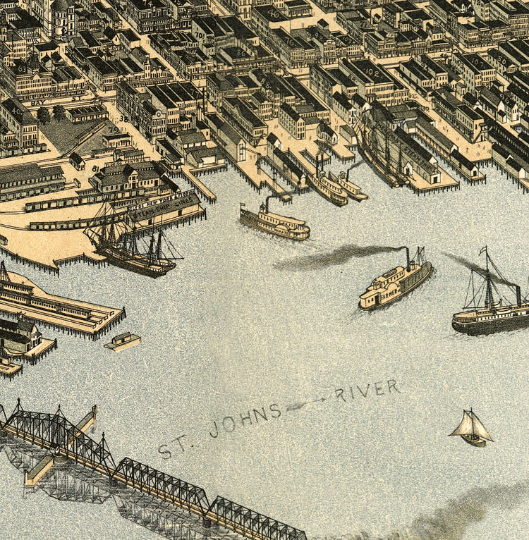 Old Map of Jacksonville Florida 1893 - product image