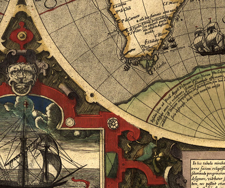 Old World Map antique 1595 - product image