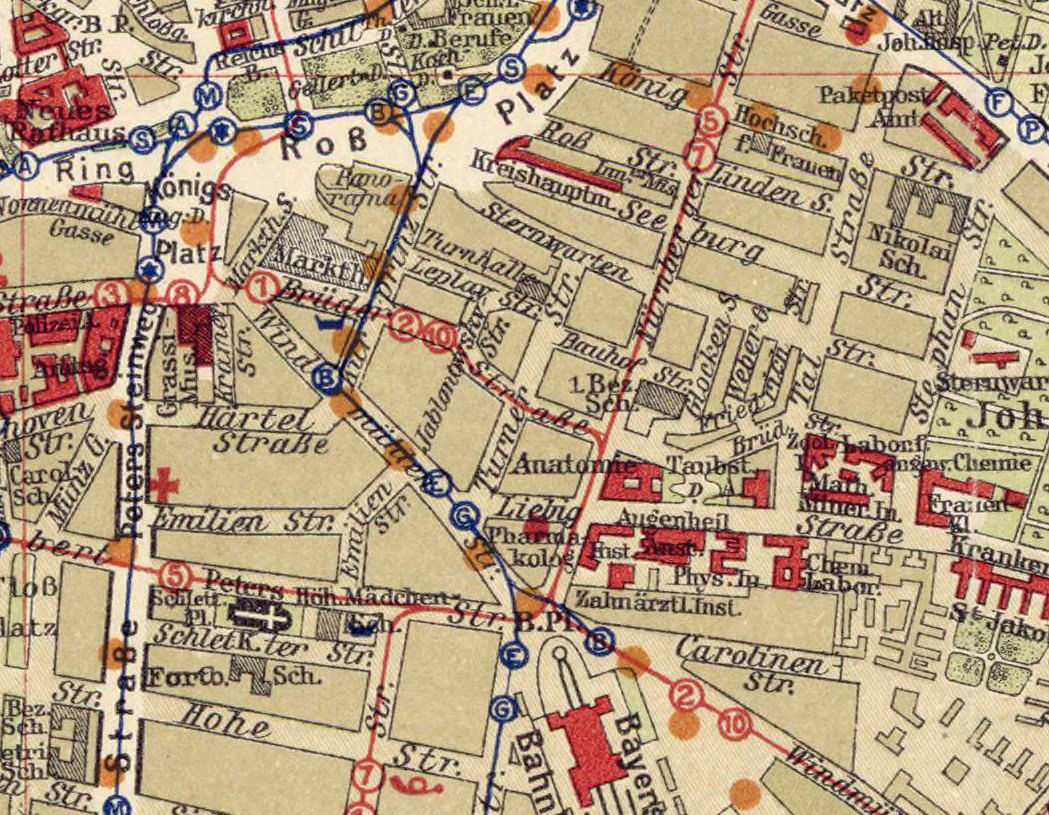 Old Map of Leipzig 1925 Germany Deutshland  - product images  of