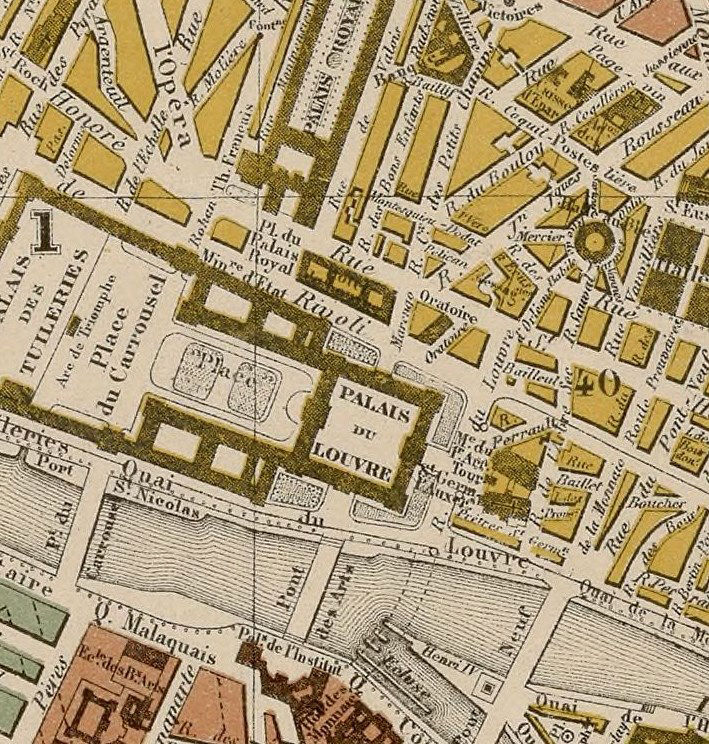 Old Map of Paris, France 1879 - product images  of