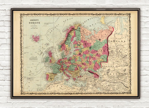 Old,Map,of,Europe,1860,map of europe, Art,Reproduction,Open_Edition,Italy,England,Greece,Sweden,Norway,europe_map,vintage_map,old_map_of_europe,vintage_europe,europe_wall_decor,europe_decor,wall_map,vintage_map_europe