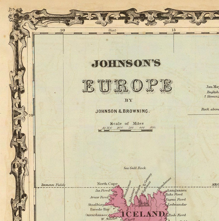Old Map of Europe 1860 - product image