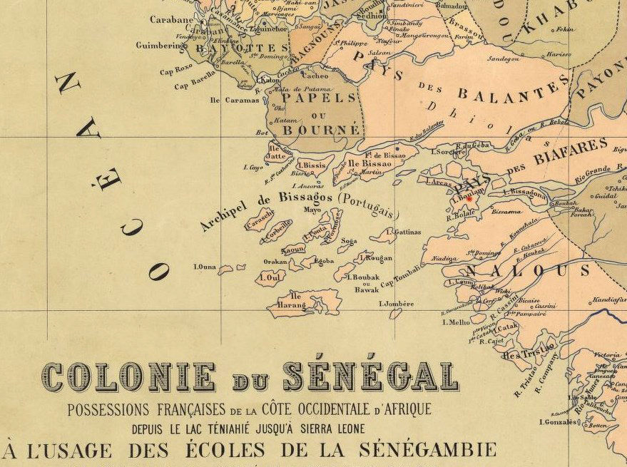 Old Map of Senegal 1884 Vintage map - product images  of