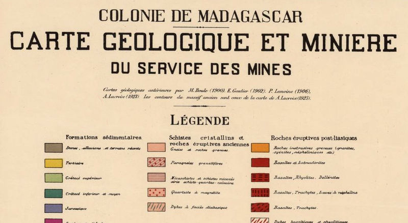 Old Map of Madagascar 1929 - product image