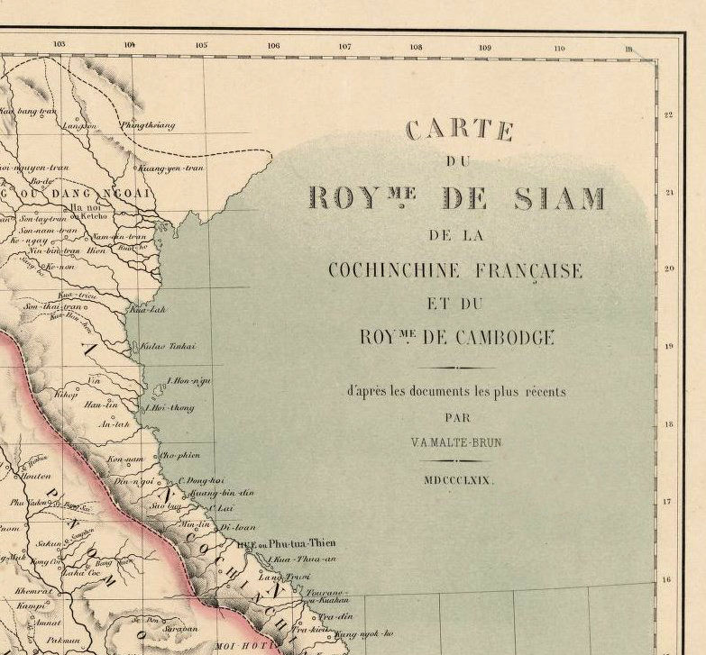 Old Map of Thailand, Old Siam 1869 - product image