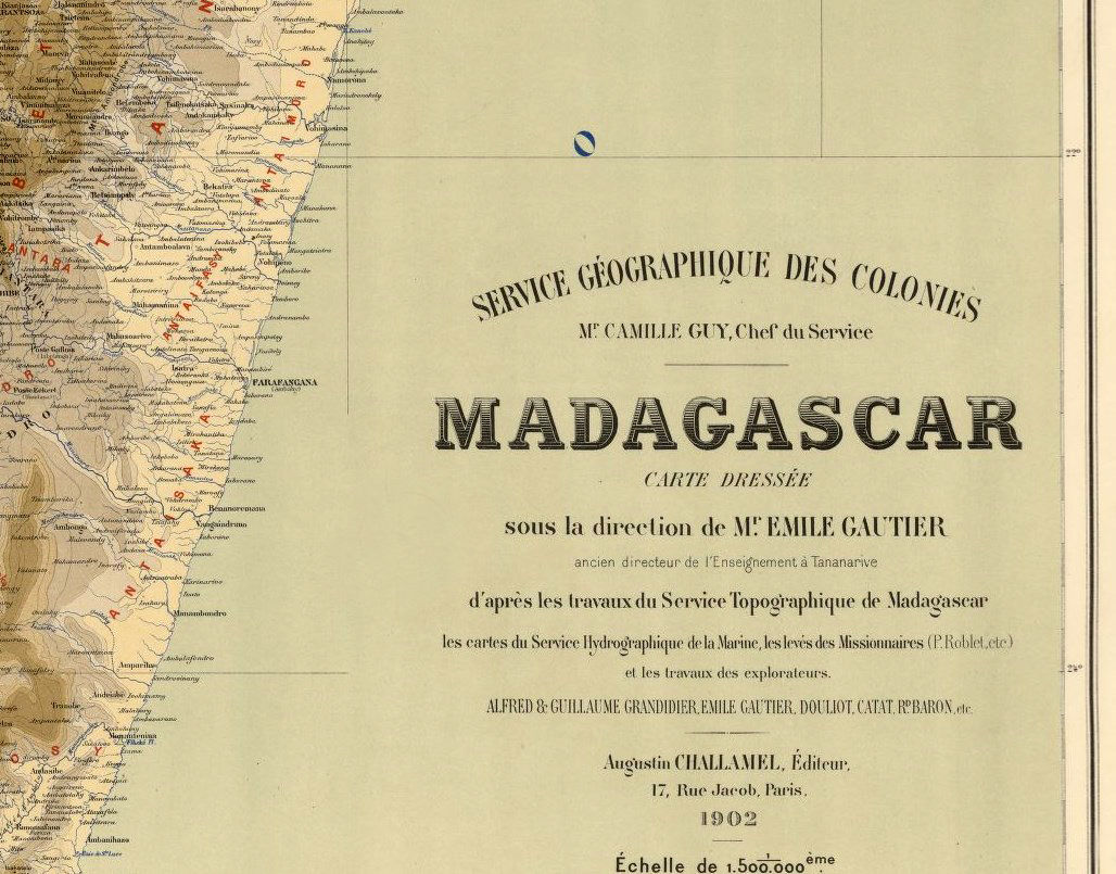Old Map of Madagascar 1902 - product images  of
