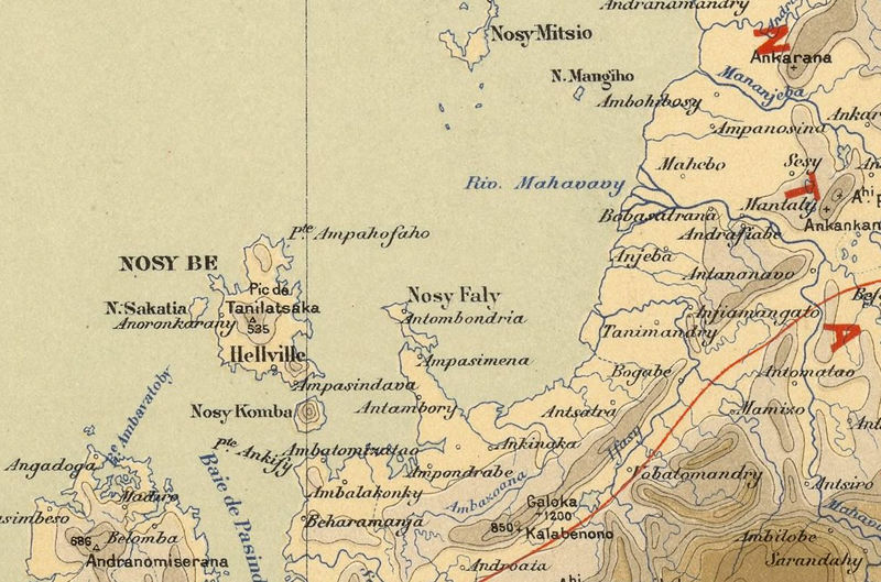 Old Map of Madagascar 1902 - product image